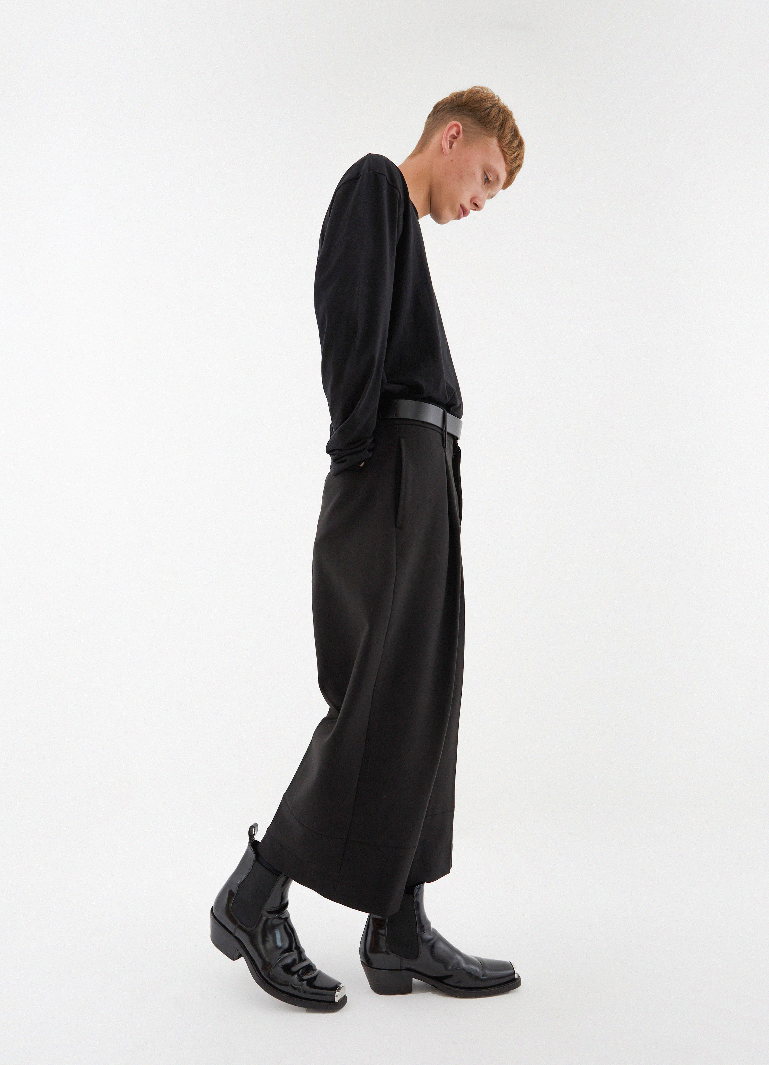Jet Pocket Wide Slacks (Black)