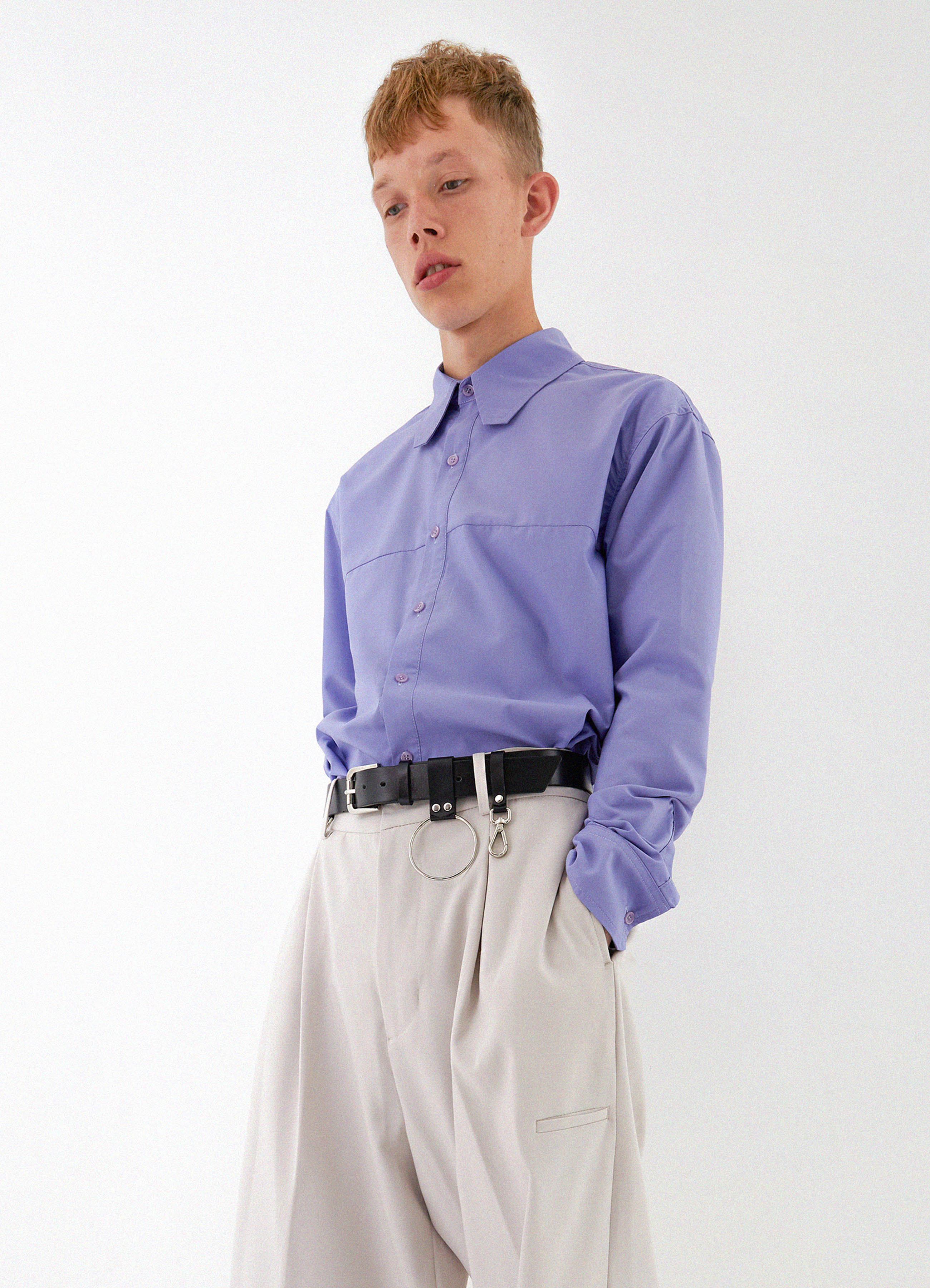 Square Collar Shirt (purple)