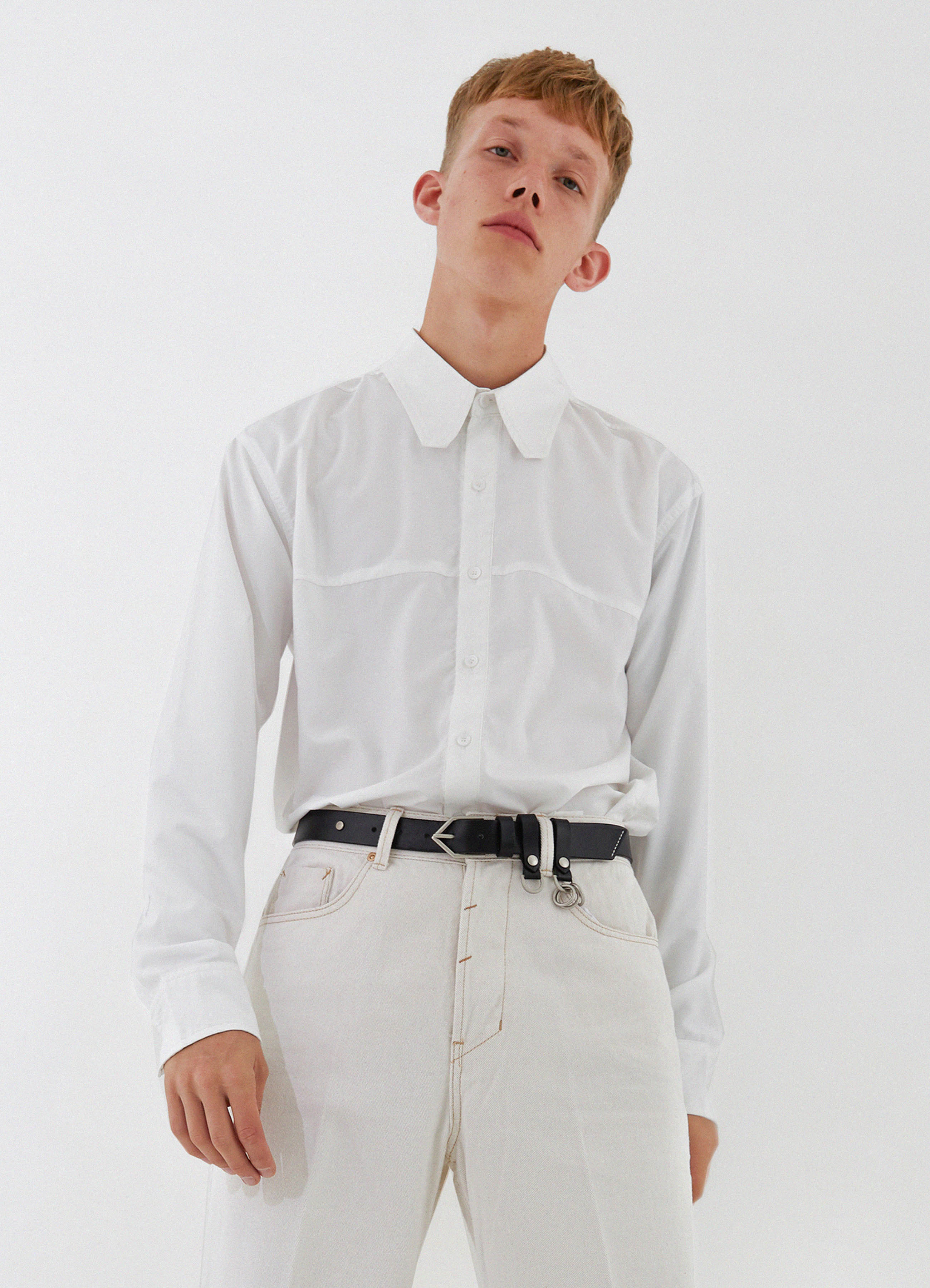 Square Collar Shirt (Ivory)
