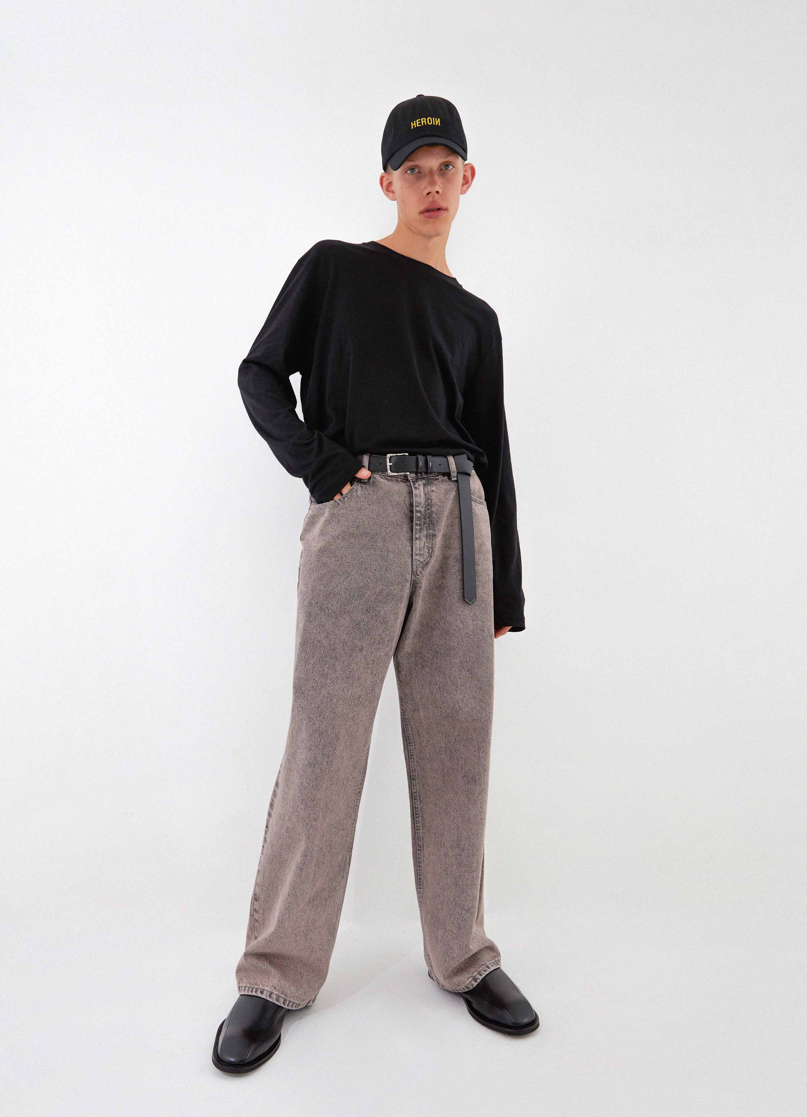 Newtro Wide Denim Pants (Desert Gray)