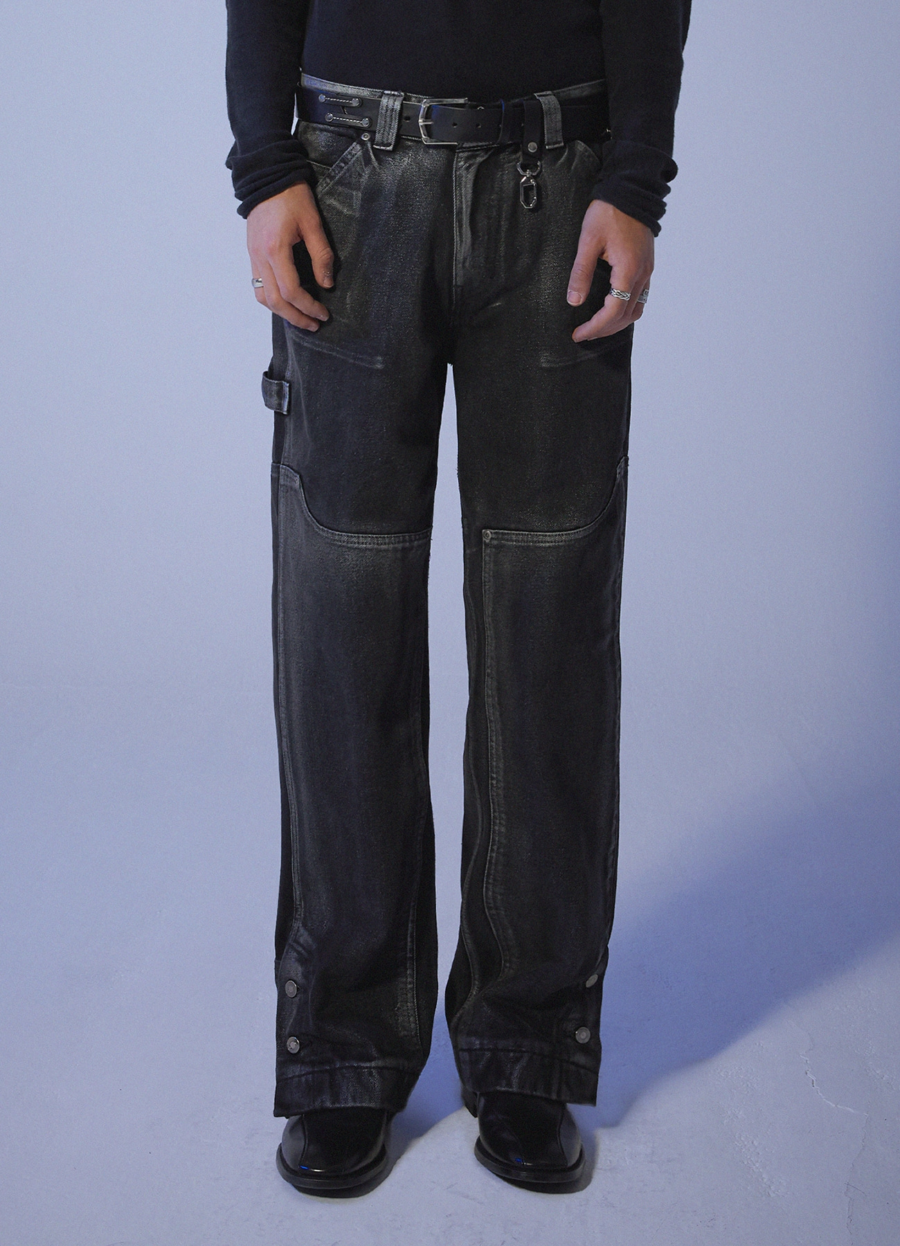 Foggy Dew Carpenter Denim Pants - Black [10/29일 예약발송]