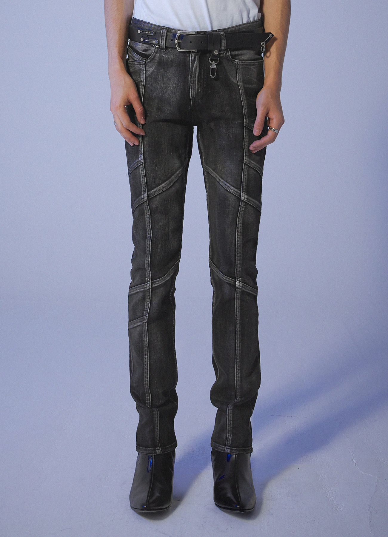 Foggy Dew Biker jeans - Black [10/29일 예약발송]